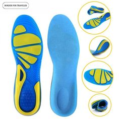 2x EVA High-Impact Gel Spring Cushion Shock Sports Shoes Insoles Pad Pain Relief