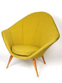 Yellow Armchair   Grant Featherston   Mid Century Modern