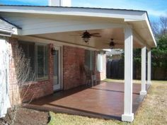 Traditional And Practical Covered Patio In The Austin Area