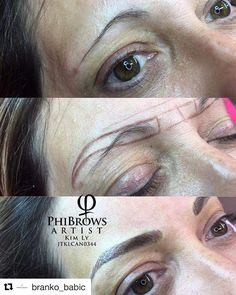 Amazing Work from Ly Branko Babic - Eye Makeup tips Eyebrow Makeup Tips, Permanent Makeup Eyebrows, Eyebrow Brush, Eyebrow Tattoo, Skin Makeup, Tattoo Makeup, Eyebrow Tinting, Makeup Kit, Makeup Products