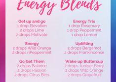 Essential oil diffuser recipes and blends Essential Oils Energy, Oils For Energy, Essential Oil Diffuser Blends, Doterra Essential Oils, Doterra Blends, Doterra Diffuser, Aromatherapy Diffuser, Aroma Diffuser, Cedarwood Oil