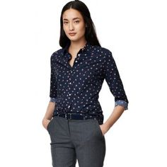 Gant Women's Cotton Poplin Stretch Flower Shirt