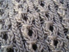 Stitch Pattern. Plus free pattern Ravelry: Shiny Cowl pattern by Dee Anna Rendall