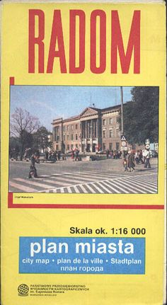 Radom. Plan miasta, PPWK, 1989, http://www.antykwariat.nepo.pl/radom-plan-miasta-p-13386.html