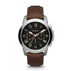 Old is new style: fossil leather watch Fossil Leather Watch fossil chronograph grant brown leather strap watch XYYWCIH Herren Chronograph, Rugged Watches, Fossil Watches For Men, Gents Watches, Gold Watches, Women's Watches, Fossil Leather Watch, Brown Leather Strap Watch, Luxury Watches