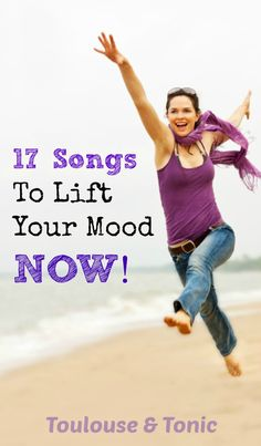 Lift your mood in 3 minutes flat - makes a great happy workout list and a good pick me up for moms.  I felt really joyful after listening to this. | health | playlist | exercise