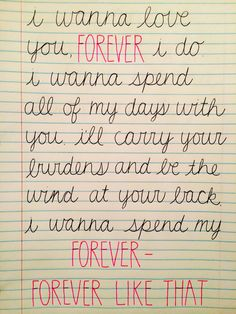 """forever like that"" -ben rector"