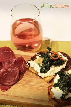 Make this elegant Black Kale & Ricotta Bruschetta with Salumi appetizer in just 4 simple steps!