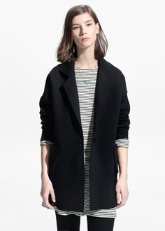 Unstructured oversize coat