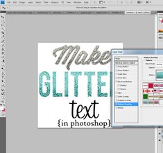 make glitter text step 2