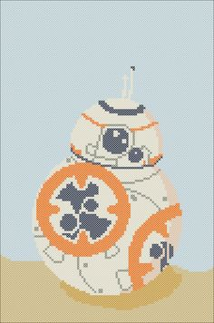 BB-8 Star Wars droid PDF pattern by Rainbowstitchcross