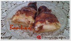 Κρουασάν μήλου σιροπιαστά #sintagespareas Baked Potato, Pork, Potatoes, Chicken, Meat, Baking, Ethnic Recipes, Pork Roulade, Bread Making