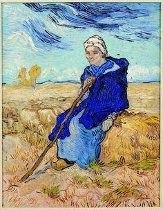 The Shepherdess Millet, 1889, oil on canvas- Tel Aviv Museum of Art.
