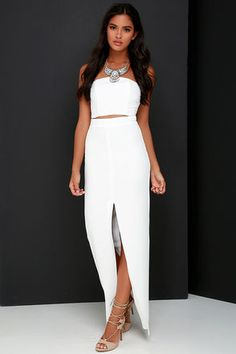 Better than a Sequel Ivory Two-Piece Dress