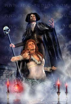 Phantom of the Opera - Limited Edition Digital Art Print  8.5 x 11