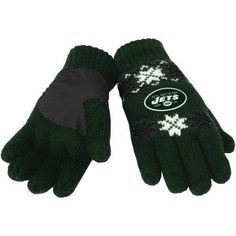 NFL Forever Collectibles Lodge Gloves, New York Jets, Green