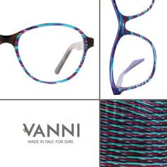 VANNI Exclusive acetate block: WIRED. http://vanniocchiali.com/vista/wired-33/ #VANNIeyewear #madeinitalyforsure