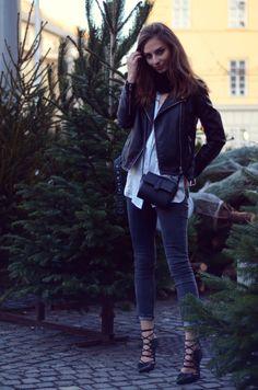 MANGO jacket | TOPSHOP shoes | H&M top | PRIMARK jeans | PRIMARK bag.