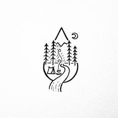 Waterfall/rain drop doodle.