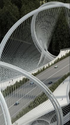 SAN SHAN BRIDGE CHINA BY PENDA ARCHITECTS IS INSPIRED BY OLYMPIC RINGS
