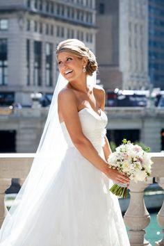 Lindsay & Ryan's beautiful Chicago wedding. Dress from Wolsfelt's Bridal. Love it.