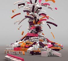 Inspiração Tipografia 3D | Criatives | Blog Design, Inspirações, Tutoriais, Web Design
