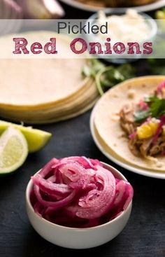 Pickled Red Onions - a delicious addition to tacos or sandwiches!