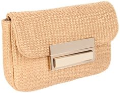 Lauren Merkin Iris Clutch,Natural