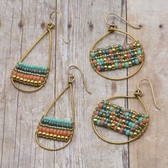 Create a pair of casual-cool hoop earrings you'll want to wear every day with our exclusive Color Works Earrings Kit! FusionBeads.com