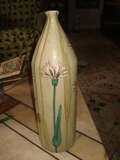 Vintage Italian Art Pottery Vase By Alvino Bagni For Raymor Large