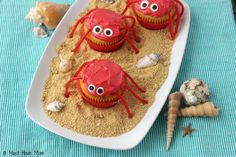 How To Make Cute Crab Cupcakes For A Beach Party!