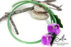 Romantic Jewellery Set Lilac Tulips Handmade by SweetyBijou