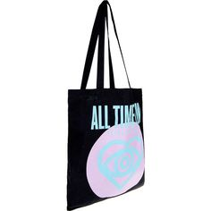 All Time Low Future Hearts Tote Bag ($16) ❤ liked on Polyvore featuring bags, handbags, tote bags, heart shaped handbag, heart purse, heart shaped purse and heart handbag