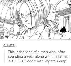 Lmao Vegeta was so mean to Future Trunks at first Trunks Dbz, Otaku, Dbz Memes, Dragon Ball Z Shirt, Dragon Z, Geek Humor, Anime Art, Funny Pictures, Fandoms