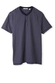Country Road Short Sleeve Stripe Henley $54.90