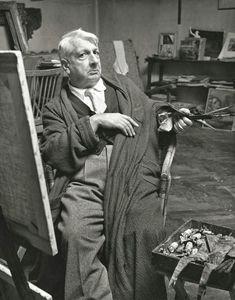 Giorgio De Chirico at his studio, Rome, Italy, 1951