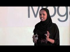 """TEDxMogadishu- Ilwad Elman- In Memory of My Father. Elle runs the Elman Peace and Human Rights Center in Mogadishu. Her father was an ardent peace activist in the 1990s, spreading the mantra """"Put down the gun, pick up the pen"""" around Somalia, but was assassinated in 1996. Elle returned to Mogadishu three years ago while the conflict still raged on in the city. She works closely with victims of rape and sexual assault, as well as rehabilitating child soldiers by teaching them vocational…"""