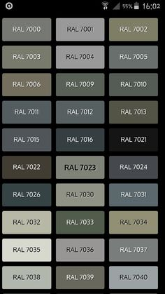 RAL Grey Colors amp Material Boards Pinterest