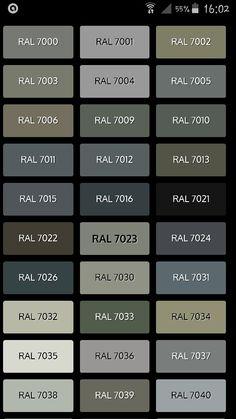 Les Teintes De Gris Nuancier Ral Couleurs Grey Colour Chart
