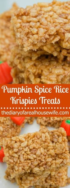 The BEST RECIPE! If you have tried these before you need to try this recipe asap. Pumpkin Spice Rice Krispies Treats.