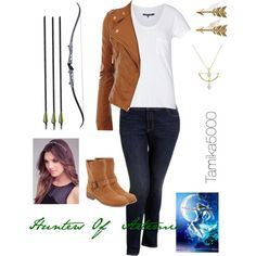 The Hunters of Artemis (requested) - Top Trends Sport Outfits, Cool Outfits, Hunter Of Artemis, Percy Jackson Outfits, Daughter Of Poseidon, Teen Fashion, Fashion Outfits, Themed Outfits, Inspired Outfits