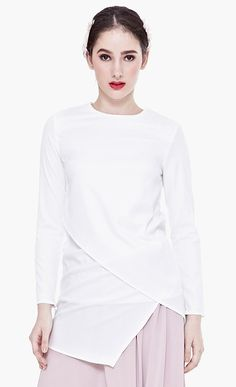 Jacques Long Sleeved Top in White