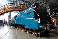 Mallard at National Railway Museum in York Diesel Locomotive, Steam Locomotive, Glasgow, Edinburgh, East Coast Main Line, National Railway Museum, Mallard, World Records, Newcastle