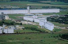 World's Largest Grain Storage Elevators. Hutchinson, KS (1994)