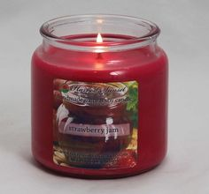 Your sweetie will love the sweet aroma of our #StrawberryJam candle! #VDay2014