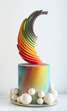 Hand painted modern masterpiece for destination weddings. Hand painted modern masterpiece for destination weddings. Crazy Wedding Cakes, Fruit Wedding Cake, Black Wedding Cakes, Wedding Cakes With Cupcakes, Wedding Cake Toppers, Cupcake Cakes, Wedding Black, Cake Icing, Gorgeous Cakes