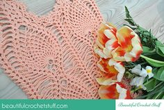 Pineapple Crochet Top Free Pattern