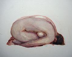 "huariqueje: "" Pebble - Wil Freeborn Scottish, b Watercolour "" Body Drawing, Life Drawing, Figure Painting, Figure Drawing, Psy Art, Dark Art Drawings, Pretty Art, Aesthetic Art, Figurative Art"