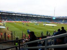 Aufwärmen vom VfL Bochum vor dem Spiel gegen Erzgebirge Aue