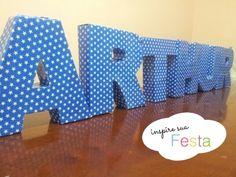 como fazer nome em 3d para festas! Passo a passo no blog www.inspiresuafesta.com